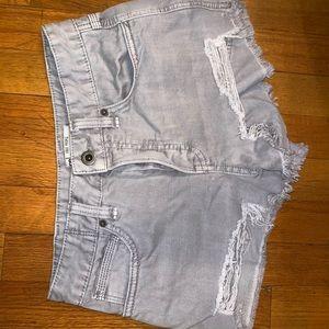 Free People light gray jean shorts!!